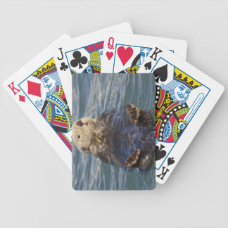 Sea otters play on icebergs at Surprise Inlet Bicycle Playing Cards
