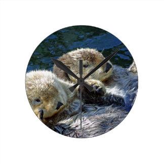 Sea-otters Round Clock