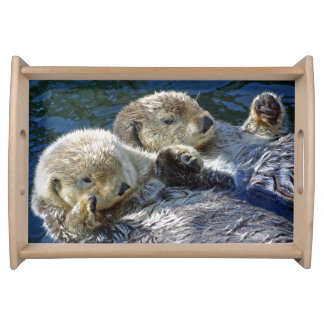 Sea-otters serving tray