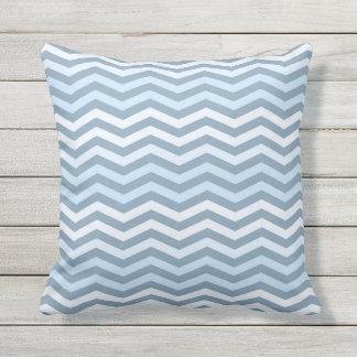 Sea-Outdoor Throw Pillow.Chevron ornament. Throw Pillow