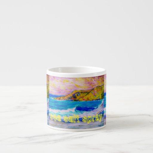 sea salt spray Art Espresso Mugs