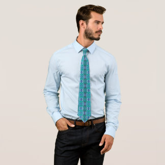 Sea Serpent Abstract Blue and Green Tie