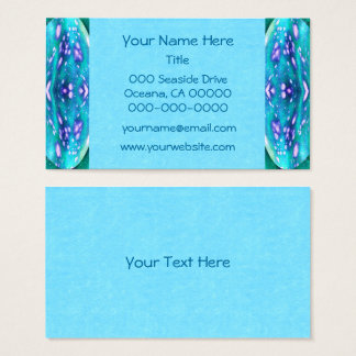 Sea Serpent Abstract Business Card