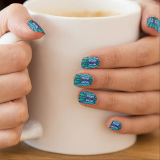 Sea Serpent Abstract Nails Stickers