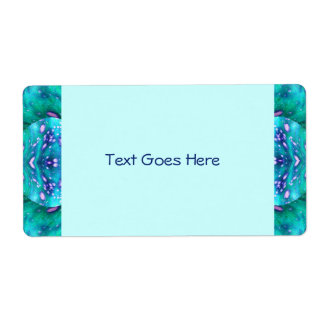 Sea Serpent Abstract Shipping Label