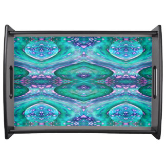 Sea Serpent Abstract Service Tray