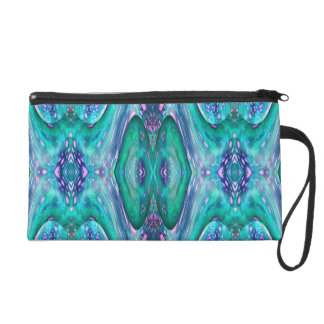 Sea Serpent Abstract Wristlet Purse