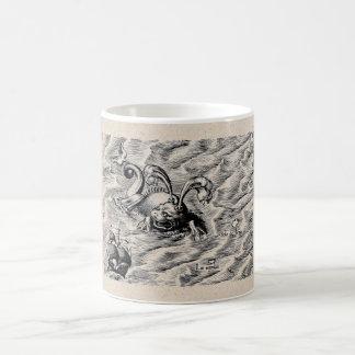 Sea Serpent and Sailing Ship Coffee Mug
