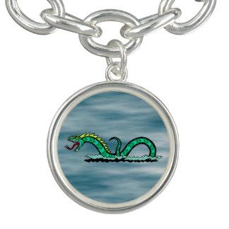 Sea Serpent Charm Bracelet