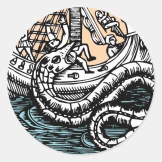 Sea Serpent Classic Round Sticker