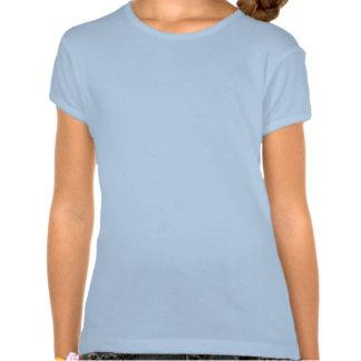 SEA SERPENT DEVOURING SHIP = in blue print T Shirt