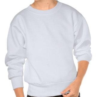 SEA SERPENT DEVOURING SHIP - in Green Print Pullover Sweatshirts