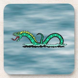 Sea Serpent Plastic Coasters