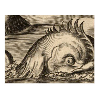 Sea Serpent Riding a Wave Post Card