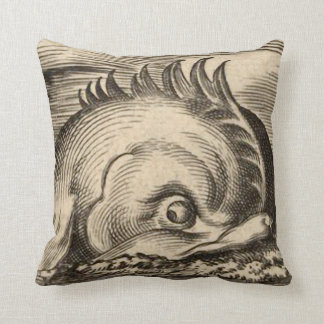 Sea Serpent Riding a Wave Throw Cushions