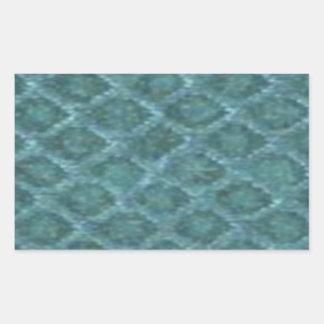 Sea Serpent skin by Valxart.com Rectangular Sticker