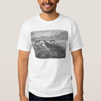 sea serpents on white t shirt