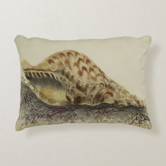 Sea Shell on Seaweed Pillow Accent Cushion