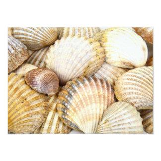 Sea Shells Collage 5.5x7.5 Paper Invitation Card