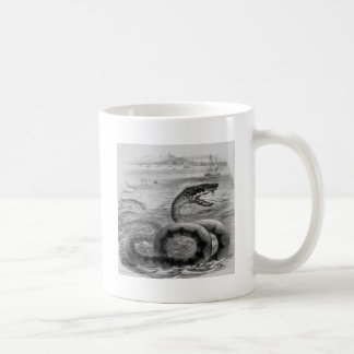 Sea Snake/Serpent Basic White Mug