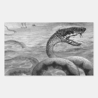 Sea Snake/Serpent Rectangular Sticker