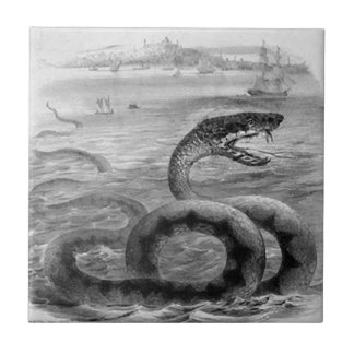 Sea Snake/Serpent Small Square Tile