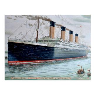 Sea Trials of RMS Titanic Postcard