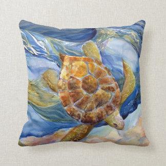 """Sea Turtle 20 x 20"""" Cotton Throw Pillow"""
