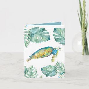 Sea Turtle in Watercolor Blank Card