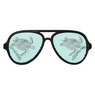 Sea Turtle Lineart Design Aviator Sunglasses