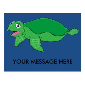 Sea turtle matching stationery postcard