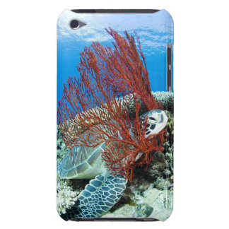 Sea turtle resting underwater 2 barely there iPod covers