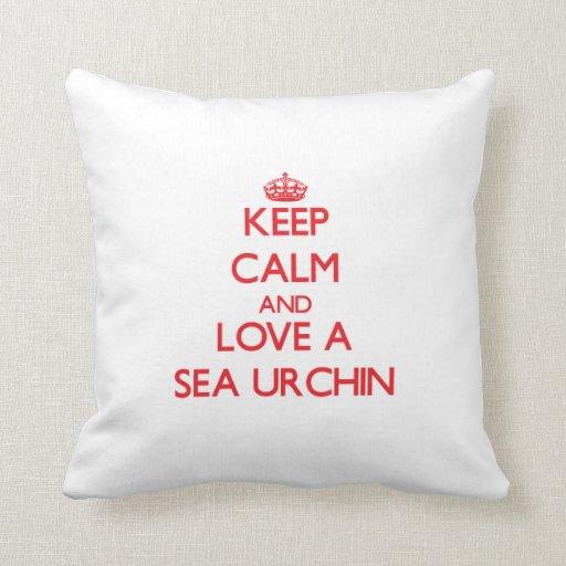Sea Urchin Throw Pillows