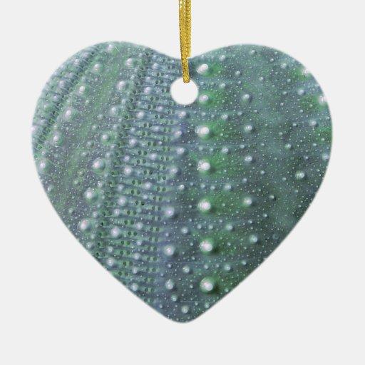Sea Urchin-Green Christmas Ornaments