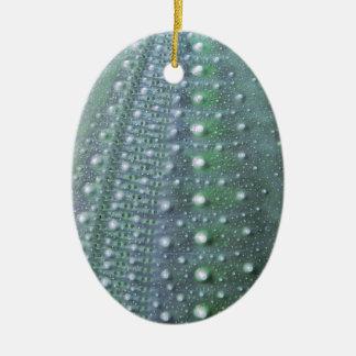 Sea Urchin-Green Christmas Ornament