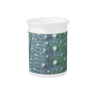Sea Urchin-Green Beverage Pitcher