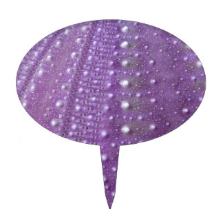 Sea Urchin-Purple Cake Picks