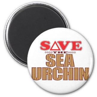 Sea Urchin Save 6 Cm Round Magnet