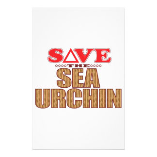 Sea Urchin Save Customised Stationery