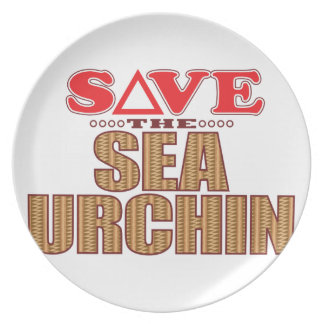 Sea Urchin Save Party Plates