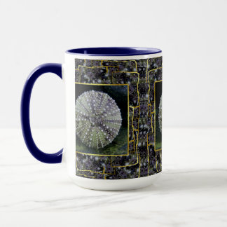 Sea Urchin With Abstract Background Mug