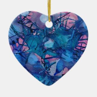 Sea Urchins Ceramic Heart Decoration