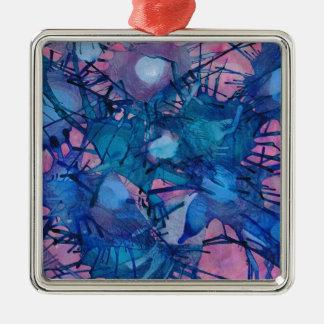 Sea Urchins Silver-Colored Square Decoration