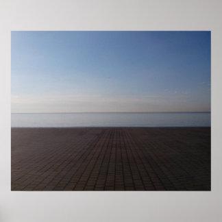 Sea view (Barcelona) Poster