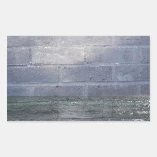 sea_wall_001 rectangular sticker