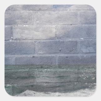 sea_wall_001 square sticker