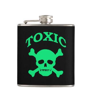Seafoam Green Toxic Skull Hip Flask