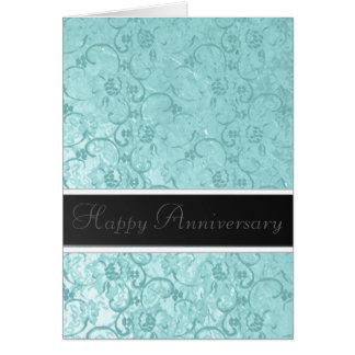 Seafoam Lace Anniversary Card