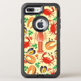 Seafood Pattern OtterBox Defender iPhone 8 Plus/7 Plus Case