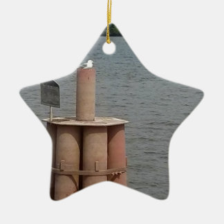Seagull on the Mississippi River Christmas Ornament